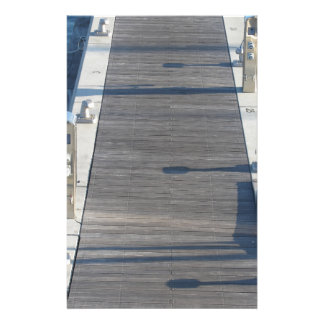 Wooden pier for boats stationery