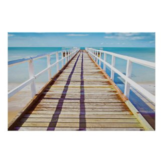 Wooden Pier On The Shore Poster