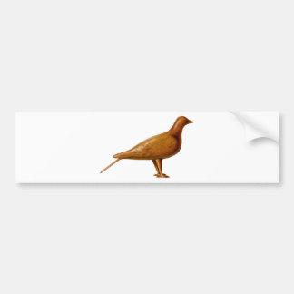 Wooden Pigeon Bumper Sticker