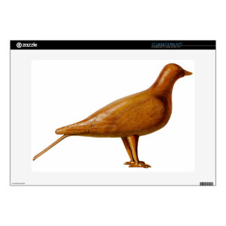 "Wooden Pigeon Decals For 15"" Laptops"