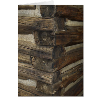 Wooden Pioneer Cabin Greeting Card