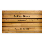 Wooden Plank Business Card Template