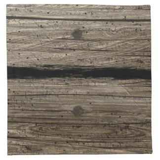 Wooden Plank Fabric Napkins