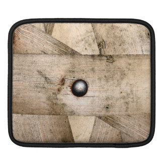 Wooden planks and bolt iPad sleeve
