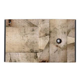 Wooden planks background iPad case