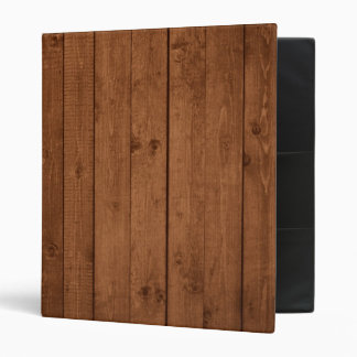 Wooden Planks, Barks, Boards, Barn Wall - Brown 3 Ring Binder