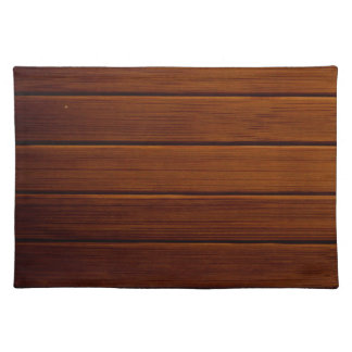 Wooden Planks, Barks, Boards, Barn Wall - Brown Cloth Placemat