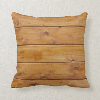 Wooden Planks, Barks, Boards, Barn Wall - Brown Throw Pillow