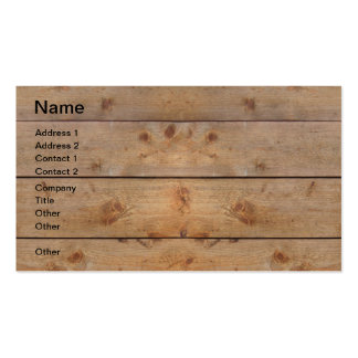 Wooden Planks Business Card