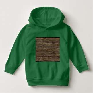 wooden planks toddler hoodie