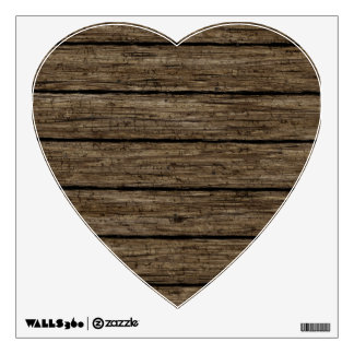 wooden planks wall decal