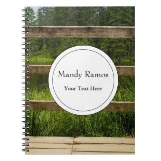 Wooden Platform Lake Landscape Photo Notebook