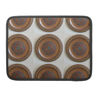 Wooden Polish Plate Design Sleeve For MacBook Pro