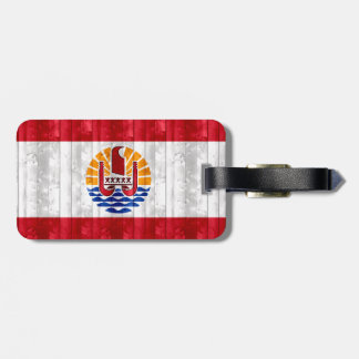 Wooden Polynesian Flag Travel Bag Tags