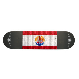 Wooden Polynesian Flag Skate Board Deck