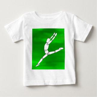 Wooden Pose Dancing Baby T-Shirt