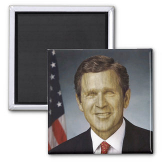 Wooden President 2 Inch Square Magnet