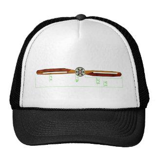 Wooden Propeller Schematic Prop Plane Trucker Hat