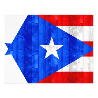 Wooden Puerto Rican Flag Full Color Flyer