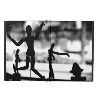 Wooden Puppet BW Case For iPad Air