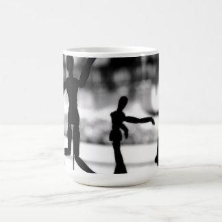 Wooden Puppet BW Coffee Mug