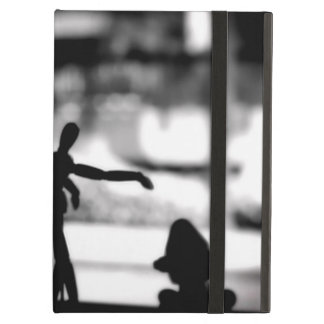 Wooden Puppet BW Cover For iPad Air