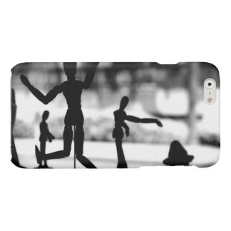 Wooden Puppet BW Glossy iPhone 6 Case