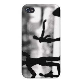 Wooden Puppet BW iPhone 4/4S Cases