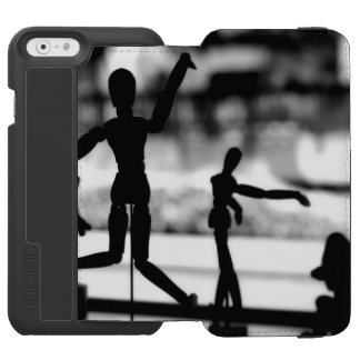 Wooden Puppet BW iPhone 6/6s Wallet Case