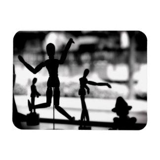 Wooden Puppet BW Magnet