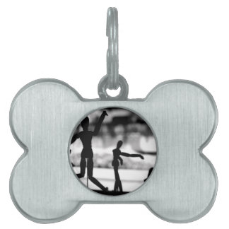 Wooden Puppet BW Pet Name Tag