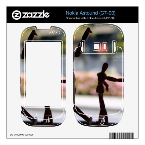 Wooden Puppet Decal For Nokia Astound