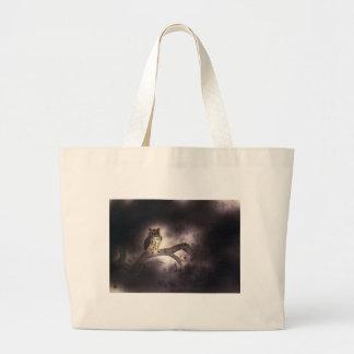 Wooden rabbit 2 large tote bag