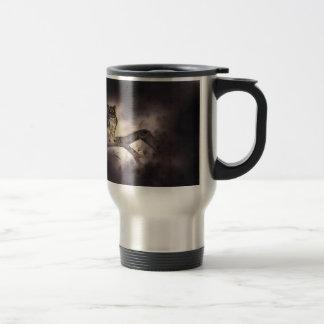 Wooden rabbit travel mug