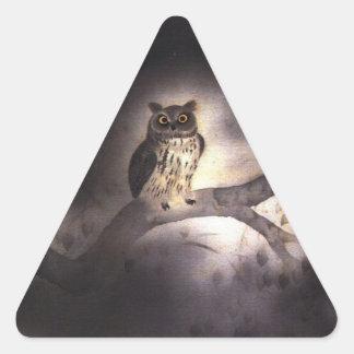 Wooden rabbit triangle sticker