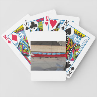 Wooden racing boat with ten seats bicycle playing cards