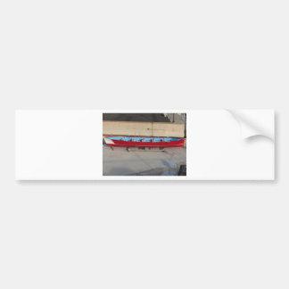 Wooden racing boat with ten seats bumper sticker
