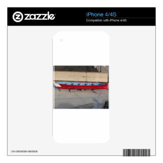 Wooden racing boat with ten seats decal for iPhone 4