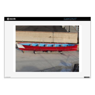 Wooden racing boat with ten seats decal for laptop