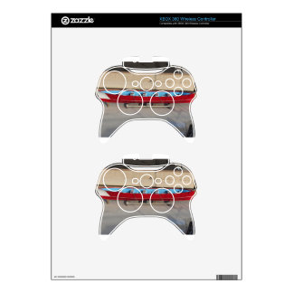 Wooden racing boat with ten seats xbox 360 controller skin
