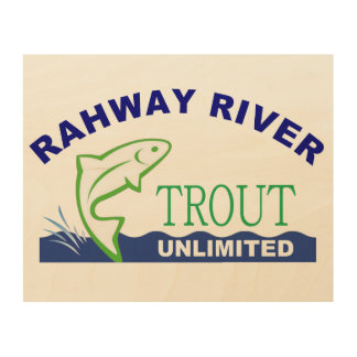 Wooden Rahway River Trout Unlimited Sign