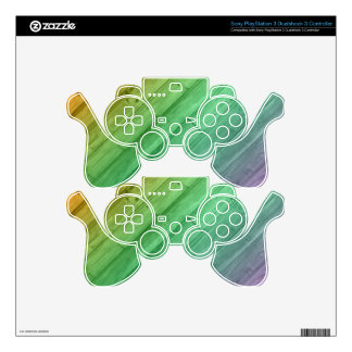 Wooden Rainbow Case PS3 Controller Skin