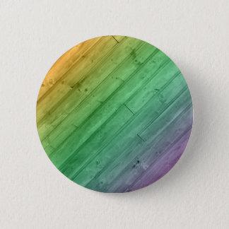 Wooden Rainbow Design Button