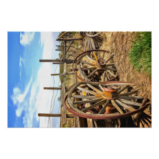 Wooden Ranch Wagon Poster