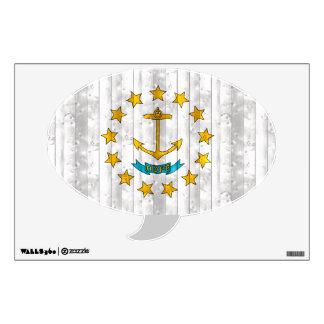 Wooden Rhode Islander Flag Wall Sticker