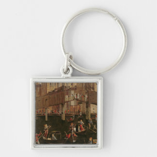 Wooden Rialto Bridge, from the Miracle of the Reli Keychain