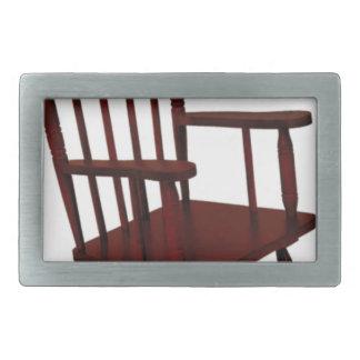 Wooden Rocking Chair Rectangular Belt Buckle