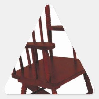 Wooden Rocking Chair Triangle Sticker