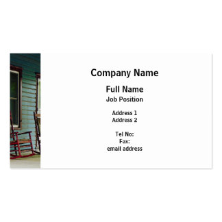 Wooden Rocking Chairs on Porch Double-Sided Standard Business Cards (Pack Of 100)