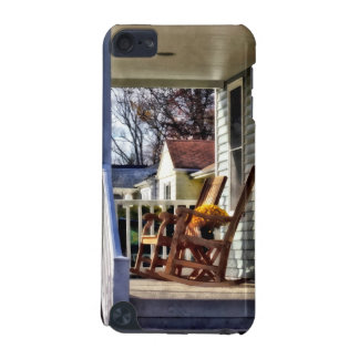Wooden Rocking Chairs on Porch in Autumn iPod Touch 5G Cover